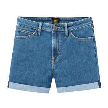 Lee Mom Short, Mid Stone Wash, Frontansicht