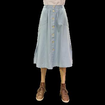 Lee Chambray Skirt, bleu clair, Summer Blue, devant