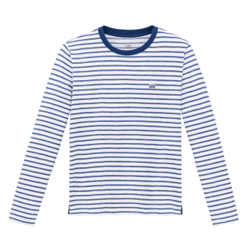 Lee Long Sleeve Tee, Washed Blue, Frontansicht