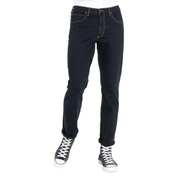 Lee Brooklyn Jeans Stretch, Bleu Foncé, Blue Black, Devant