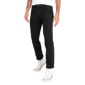 Lee Brooklyn Jeans Stretch, Noir, Clean Black, Devant