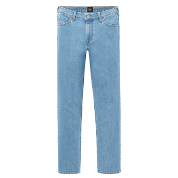 Lee Brooklyn Straight Stretch, bleu clair, Light Stonewash, Frontansicht