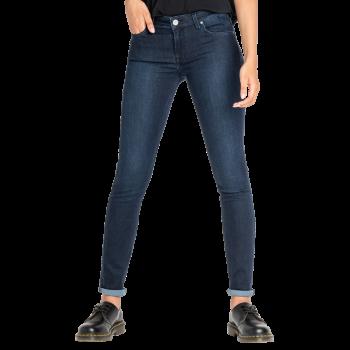 Lee Scarlett Jeans skinny, dunkelblau verwaschen, Clean Wheaton, Frontansicht