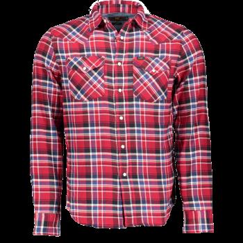 Lee Chemise Western Slim Fit, carreaux rouge, Red Runner, devant