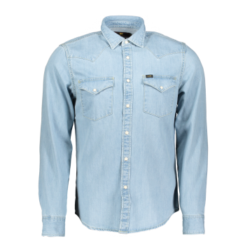 Lee Western Hemd Slim Fit, hellblau, Heather Blue, Frontansicht