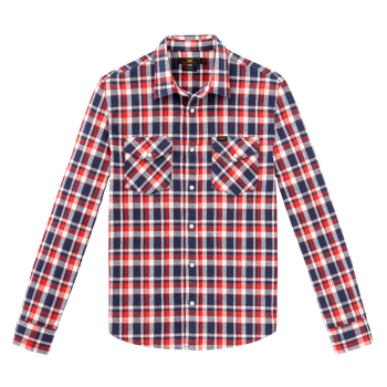 Lee Western Hemd Slim Fit, rot, Poppy Red, Frontansicht