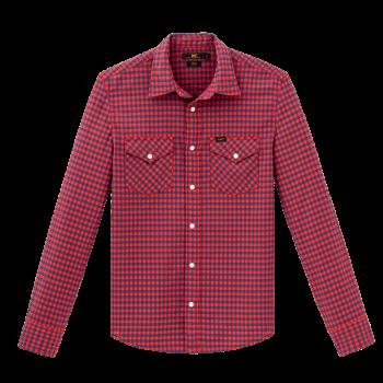 Lee Western Shirt Slim Fit, Poppy Red, devant