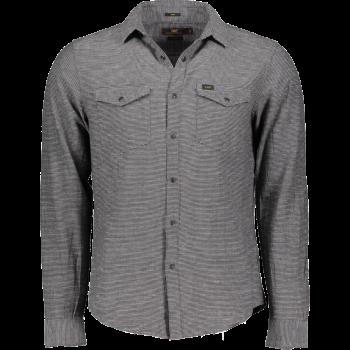 Lee Chemise Western Slim Fit, carreaux gris, Black, devant
