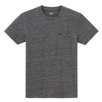 Lee Ultimate Pocket Tee, Dark Grey Mele, Frontansicht