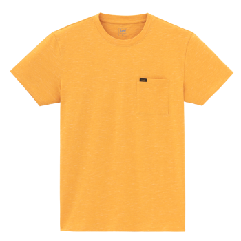 Lee Ultimate Pocket Tee, Golden Yellow, Frontansicht