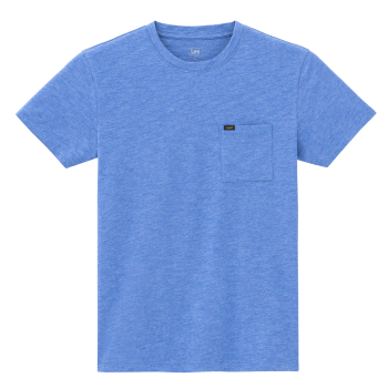 Lee Ultimate Pocket Tee, Summer Blue, Frontansicht