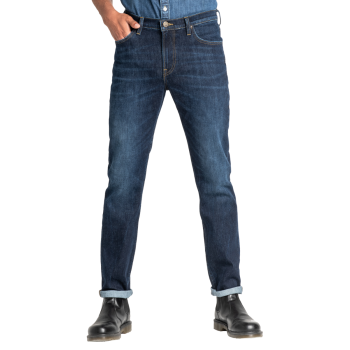 Lee Daren Jeans Slim, bleu moyen délavé, Dark Pool, devant