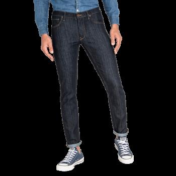 Lee Daren Jeans Regular Slim, Dunkelblau, Rinse, Frontansicht