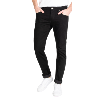 Lee Luke Jeans Slim Tapered, schwarz, Clean Black, Frontansicht