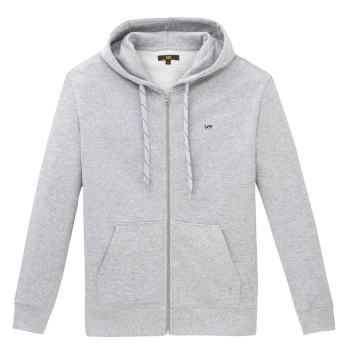 Lee Basic Zip Throuh Hoo, Grey Mele, devant