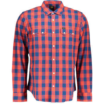 Lee Western Hemd Slim Fit, Poppy Red, Frontansicht