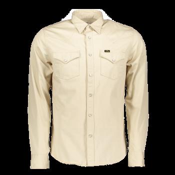 Lee Western Shirt Slim Fit, beige clair, Alabaster, devant