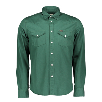 Lee Western Hemd Slim Fit, dunkelgrün, Bottle Green, Frontansicht
