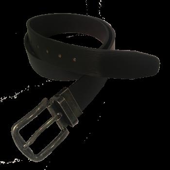 Vittozzi Ledergürtel 445, Reversible, schwarz/dunkelbraun, Frontansicht