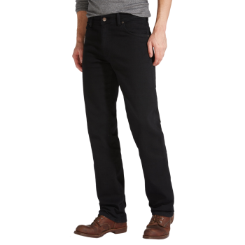 Wrangler Texas Stretch Jeans Straight, Noir, devant