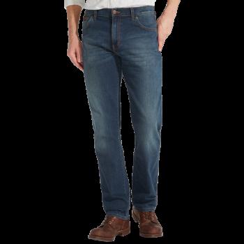 Wrangler Texas Stretch Jeans Straight, blau verwaschen, Vintage Tint, Frontansicht
