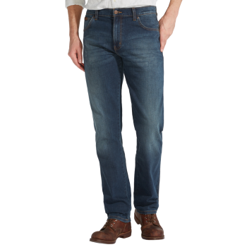 Wrangler Texas Stretch Jeans Straight, bleu délavé, Vintage Tint, devant