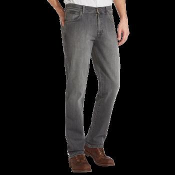 Wrangler Texas Stretch Jeans Straight, gris, Graze, devant