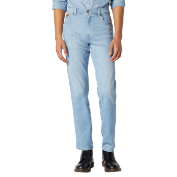 Wrangler Texas Stretch Jeans Straight, Hellblau, Flingwing, Frontansicht