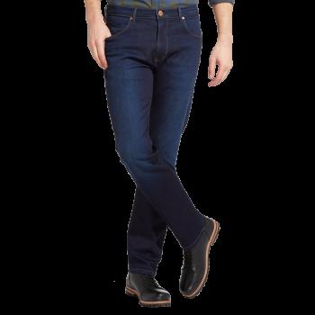 Wrangler Arizona Jeans straight, bleu foncé delavé, Blue Stroke, devant