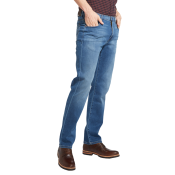 Wrangler Arizona Jeans, straight, bleu clair, Bright Stroke, devant
