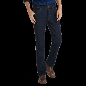 Wrangler Arizona Jeans straight, dunkelblau, Rinsewash, Frontansicht