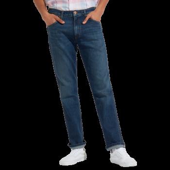 Wrangler Greensboro Stretch Jeans straight, bleu moyen, Indigo Wit, devant