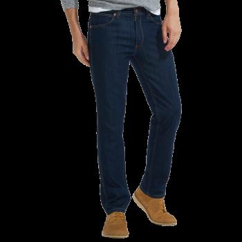 Wrangler Greensboro Jeans straight, bleu foncé, Ocean Squall, devant