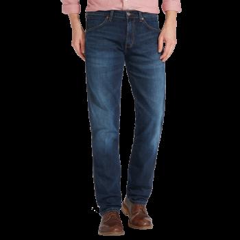 Wrangler Greensboro Jeans straight, bleu foncé, El Camino, devant