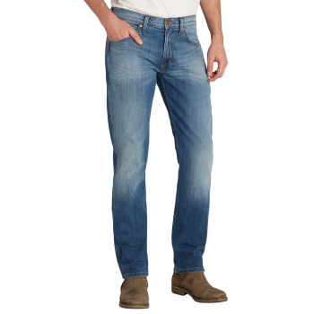 Wrangler Greensboro Jeans straight, hellblau, Blue what Blue, Frontansicht