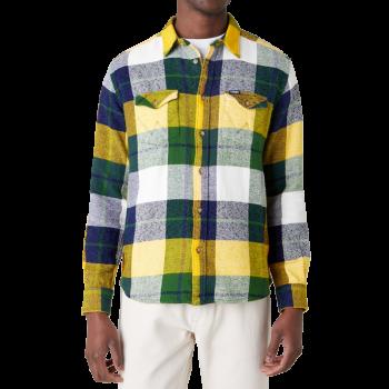 Wrangler 2 Pocket Flap Shirt Regular Fit, Artichoke Green, Frontansicht