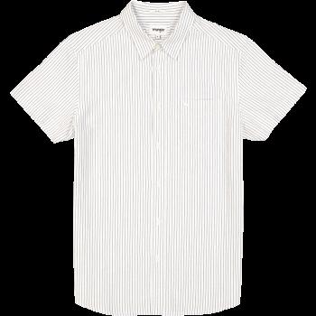 Wrangler 1 Pocket Shirt, Real White, devant