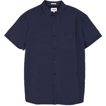Wrangler 1 Pocket Shirt, Navy, Frontansicht