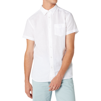 Wrangler 1 Pocket Shirt, White, Frontansicht