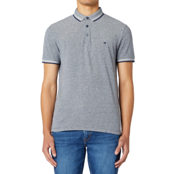 Wrangler Refined Polo, Navy, Frontansicht
