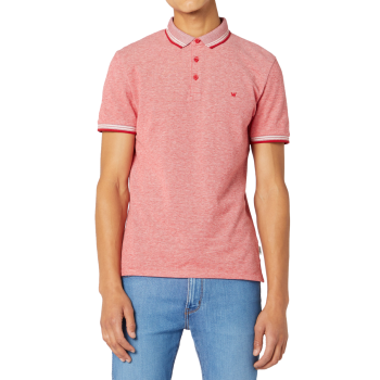 Wrangler Refined Polo, Formula Red, rouge, devant