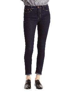Levi's 721 Jeans High Rise Skinny, dunkelblau, Lone Wolf, Frontansicht