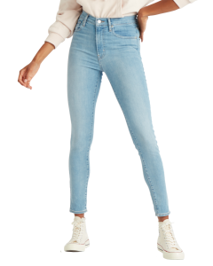Levi's Mile High Super Skinny Jeans, hellblau, Between Space and Time, Frontansicht