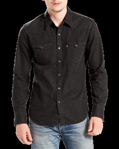Levi's Jeans Hemd Slim Fit, schwarz, Black, Frontansicht
