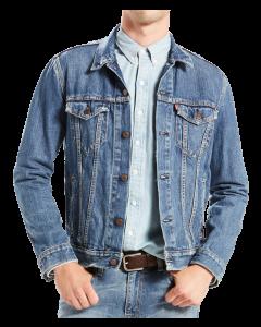 Levi's Jeansjacke Trucker Standard Fit, mittelblau verwaschen, Med Stonewash, Frontansicht