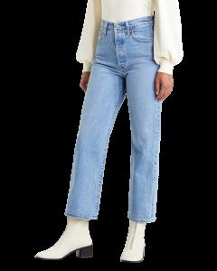 Levi's Ribcage Jeans Straight Ankle, bleu clair, Tango Gossip, devant