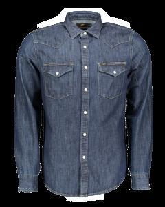 Lee Western Hemd Slim Fit, dunkelblau, Blueprint, Frontansicht