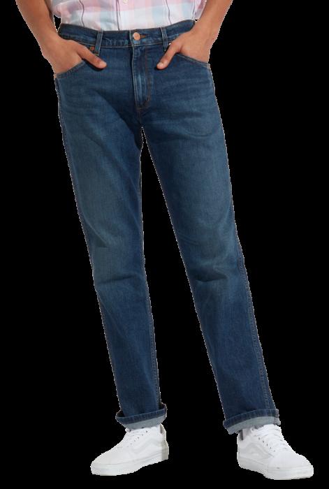 Wrangler Greensboro Stretch Jeans Straight, Indigo Wit